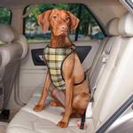 View Image 1 of Plaid Car Harness by Guardian Gear - Tan