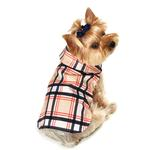 View Image 1 of Plaid Dog Raincoat - Tan