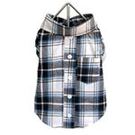 View Image 1 of Plaid Dog Shirt - Blue