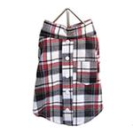 View Image 1 of Plaid Dog Shirt - Red