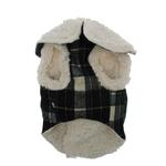 View Image 2 of Plaid Fleece Lined Dog Wrap Coat - Green