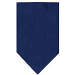 View Image 1 of Plain Dog Bandana - Navy Blue