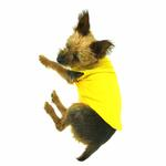 View Image 4 of Plain Dog Shirt - Yellow