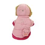 View Image 1 of Pocket Dog Parka by Dogo - Pink
