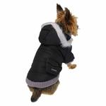 View Image 2 of Pocket Dog Parka by Dogo - Black