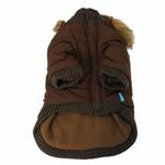 View Image 3 of Pocket Dog Parka by Dogo - Brown