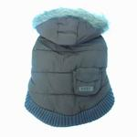 View Image 6 of Pocket Dog Parka by Dogo - Brown