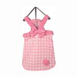 View Image 1 of Polka Dot Dog Dress - Baby Pink