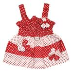 View Image 2 of Polka Dot Dog Sundress by Klippo - Red and White