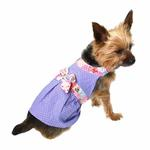 View Image 1 of Polka Dot Dog Sundress by Gooby - Periwinkle