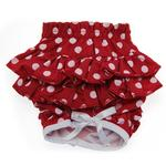 View Image 1 of Polka Dot Ruffled Dog Panties - Red and White