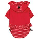 View Image 3 of Polka Dots and Ruffles Raincoat - Red