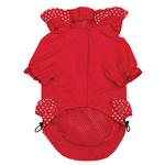 View Image 2 of Polka Dots and Ruffles Raincoat - Red