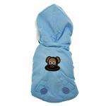 View Image 1 of Pom Pom Dog Parka - Blue