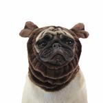 View Image 1 of Poofy Dog Snood by Puppia - Brown