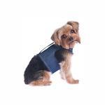 View Image 1 of Power Reversible Dog Harness - Denim & Suede