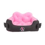 View Image 1 of Premium House Dog Bed by Pinkaholic - Black