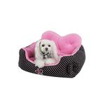 View Image 2 of Premium House Dog Bed by Pinkaholic - Black