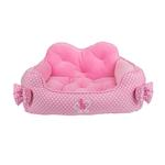 View Image 1 of Premium House Dog Bed by Pinkaholic - Pink