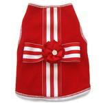 View Image 1 of Present Striped Dog Shirt - Red