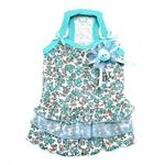 View Image 1 of Primavera Dog Dress by Pinkaholic - Aqua