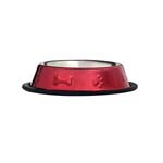 View Image 1 of ProSelect Bone & Paw Embossed Bowl - Red