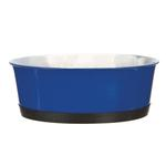 View Image 1 of ProSelect Colored Stainless Steel Bowl with Rubber Base - Blue