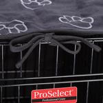 View Image 2 of ProSelect Pawprint Crate Cover and Bed Set - Black