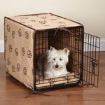 View Image 1 of ProSelect Pawprint Crate Cover and Bed Set - Camel