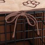 View Image 2 of ProSelect Pawprint Crate Cover and Bed Set - Camel