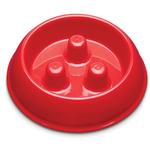 View Image 1 of ProSelect Plastic Slow Feeder Dog Bowl - Red