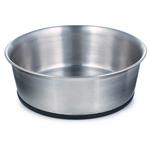 ProSelect Stainless Steel Dog Bowl with Rubber Base