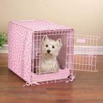 View Image 1 of ProSelect Sweet Safari 2-Piece Crate Cover and Bed - Petal Pink