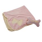 View Image 1 of Puppy Blanket and Toy Set - Pink