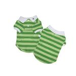 View Image 1 of PuppyPAWer Stripe Polo by Dogo - Green