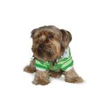 View Image 2 of PuppyPAWer Stripe Polo by Dogo - Green
