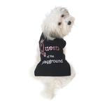 View Image 1 of Queen of the Playground Dog T-Shirt - Black