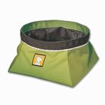 View Image 3 of Quencher Travel Dog Bowl by RuffWear - Lichen Green
