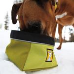 View Image 1 of Quencher Travel Dog Bowl by RuffWear - Lichen Green