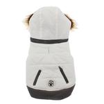 View Image 1 of Quilted Dog Sweater Coat - White