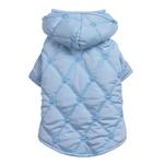 View Image 1 of Quilted Pastel Dog Jacket - Blue