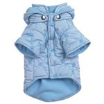 View Image 3 of Quilted Pastel Dog Jacket - Blue