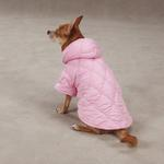 View Image 1 of Quilted Pastel Dog Jacket - Pink