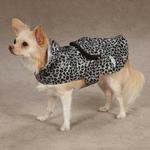 View Image 1 of Rainy Day Dog Rain Jacket - Grey Leopard