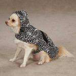 View Image 3 of Rainy Day Dog Rain Jacket - Grey Leopard