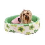 View Image 1 of Ramona Heart Dog Bed by Pinkaholic - Green