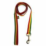 View Image 1 of Rasta Stripe Dog Leash