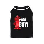 View Image 2 of Real Boy Dog T-Shirt - Black