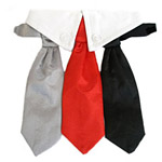 View Image 1 of Red, Black and Grey Satin Neck Tie and Collar Set