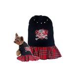 View Image 1 of Red Plaid Skull Day Dress